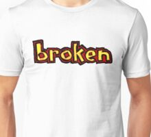 Broken Blind logo Red orange and yellow Unisex T-Shirt