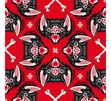 Bat Head Pattern Photographic Print