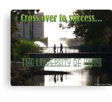 Cross Over To Success Canvas Print
