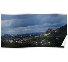 Solway Crags, Edinburgh, Scotland Poster