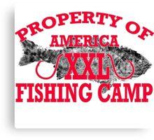 American Fishing camp xxl gyotaku Canvas Print