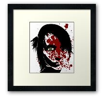 Woman in pain Framed Print