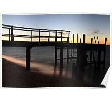 Morning Glimmer - Old Bundegi Jetty, Exmouth WA Australia Poster