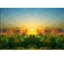 Sunrise Polygon Art Photographic Print