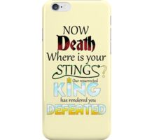 Death is overcome! iPhone Case/Skin