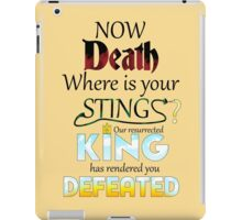 Death is overcome! iPad Case/Skin