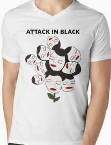 Attack In Black Mens V-Neck T-Shirt