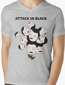 Attack In Black Mens V-Neck T-Shirt