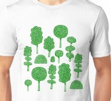 Arboretum 230715 - Dark Green on White Unisex T-Shirt