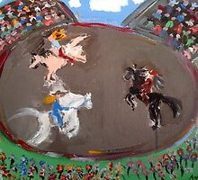 The Rodeo - Livvy & Anthea's Art by Anthea  Slade