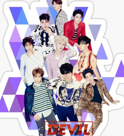 Super Junior SJ SuJu - DEVIL 2 Sticker