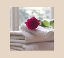 Roses and Towels in the Bathroom Unisex T-Shirt