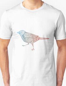 Birdie Zentagle - Blue and Terracota T-Shirt
