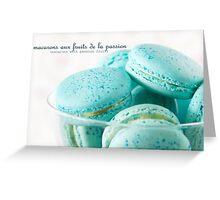 Macarons aux fruits de la passion II Greeting Card