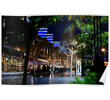 Night Time Walkway, Crown Casino, Melbourne Poster