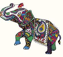 Elephant Zentangle by Julia Braga