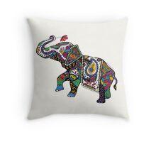 Elephant Zentangle Throw Pillow
