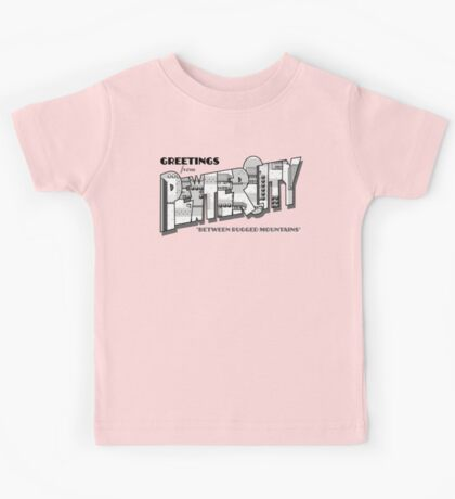 Greetings from Pewter City Kids Tee