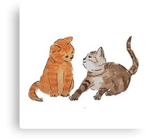 Watercolour Kittens Canvas Print