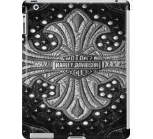 H-D Leather logo 2 iPad Case/Skin