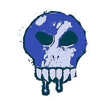 Skull - Blue by BigFluffyFozzie