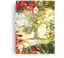 Abstract Flowers and Tree Oil Painting Canvas Print
