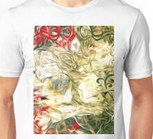 Abstract Flowers and Tree Oil Painting Unisex T-Shirt