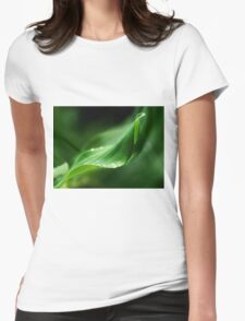 Suspending the droplets, Solomon's Seal, County Kilkenny, Ireland Womens Fitted T-Shirt