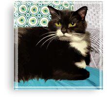 """""""Dad's Cat"""" - Square Canvas Print"""