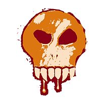 Skull - Orange by BigFluffyFozzie