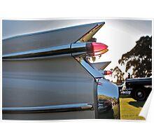 1959 Cadillac fins at sunset Poster