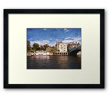 York river Ouse on texture Framed Print