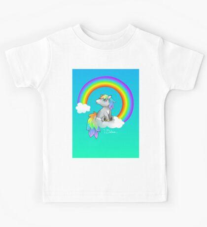 I Believe in Unicorns! Rainbow Chibi Kids Tee