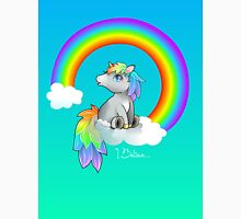 I Believe in Unicorns! Rainbow Chibi Unisex T-Shirt