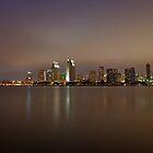 San Diego Skyline  by cvrestan