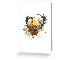 Deer Antlers with Flowers 2 Greeting Card