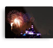 Disneyland Fireworks Display Metal Print