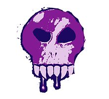 Skull - Purple by BigFluffyFozzie