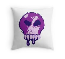 Skull - Purple Throw Pillow