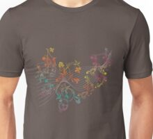 Floral Music Notes 3 Unisex T-Shirt