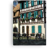 Strasbourg bikes Canvas Print