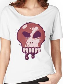 Skull - Red Women's Relaxed Fit T-Shirt