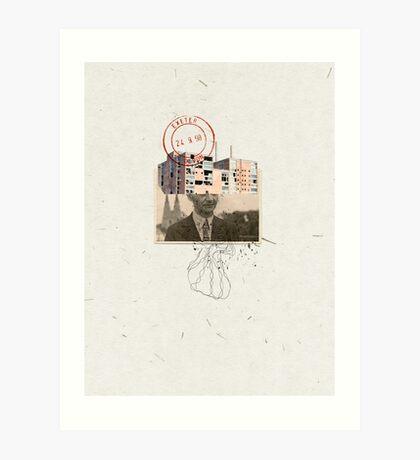 LA DUDA DE DIOS vr2. (God's doubt) Art Print