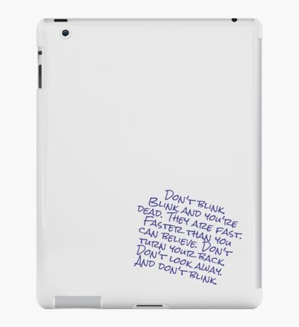 Doctor Who Don't Blink iPad Case/Skin