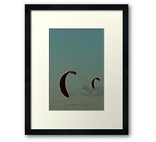 Kiteboarding - Kites Framed Print