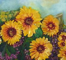 Sunny Sunflowers by ClaireBull