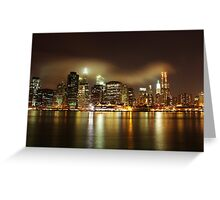 Lower Manhattan Along The East River - NYC  Greeting Card