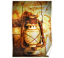 The old oil lamp Poster