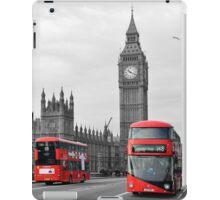 Buses on Westminster Bridge  iPad Case/Skin