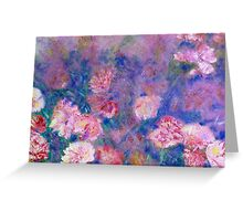 Peony Impressions in Pinks and Purples Greeting Card
